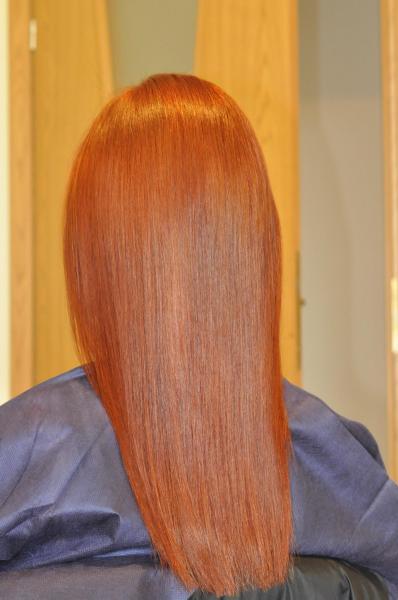 Copper hair colour
