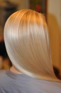 Blonde colour with a grey tint