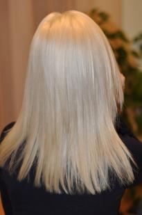 Light grey blond hair colour