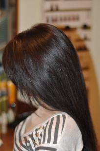 Dark chocolate hair colour