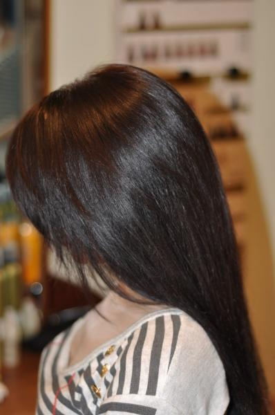 Dark chocolate hair colour