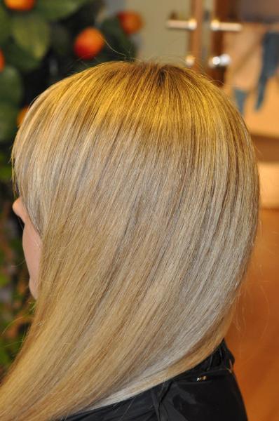 Small hair highlights