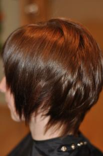 Short haircut for women with cutouts