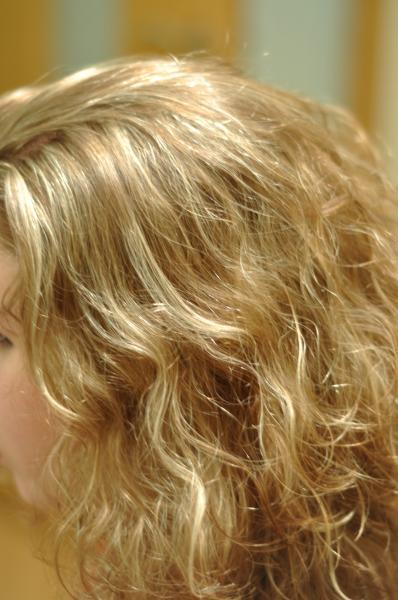 Small white hair highlights
