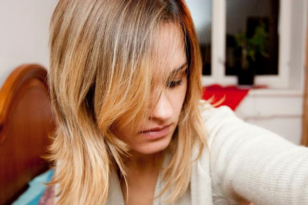Ombre hair style colouring