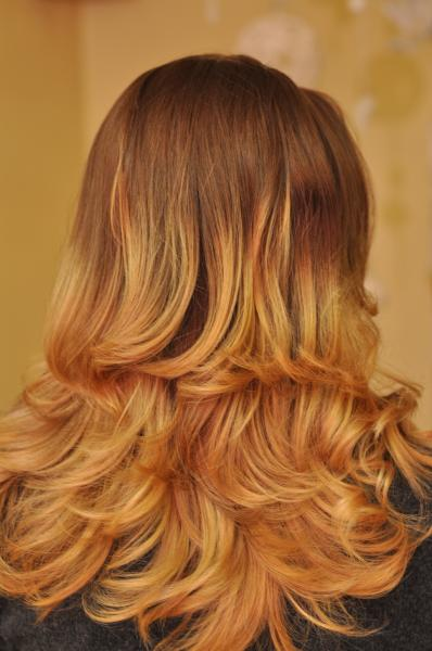 Ombre hair colouring