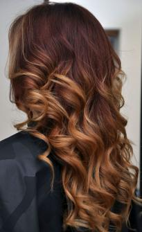 Bright brown Balayage