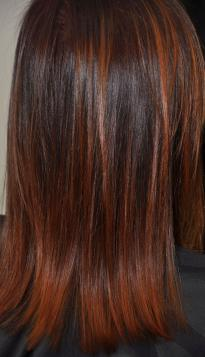 Brown red Balayage