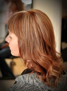 Brown colour with white highlights