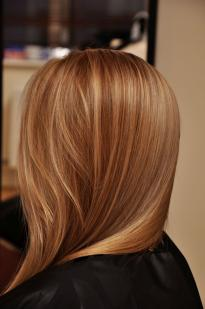 Light brown colour with highlights