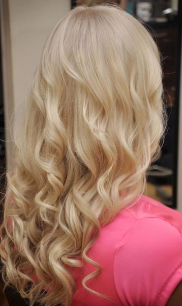 Hair curling with tongs
