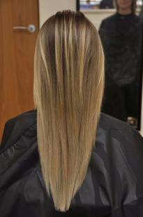 Balayage Ombre with dark roots