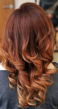 Ombre in brown shades