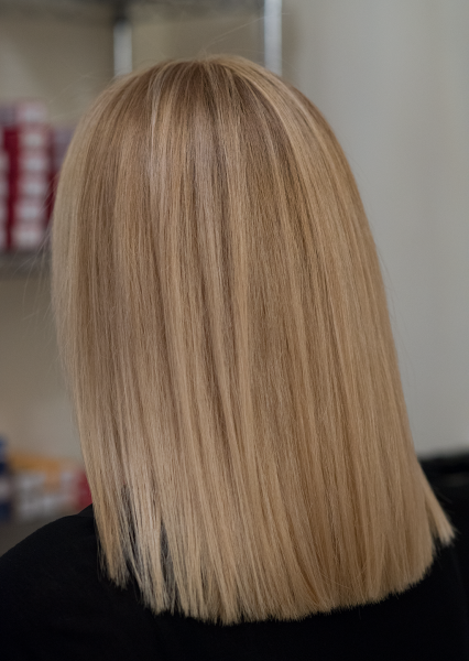 Blond colouring with highlights
