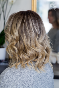 Balayage by darkening roots