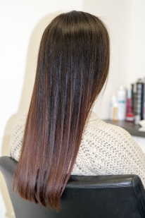 Black hair highlighting