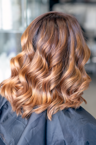Chocolate Balayage with copper shade