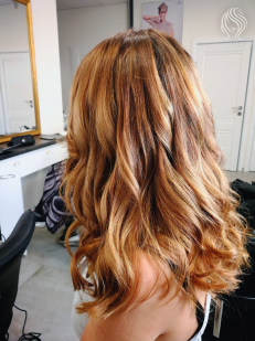 Hair colour leveling and Balayage