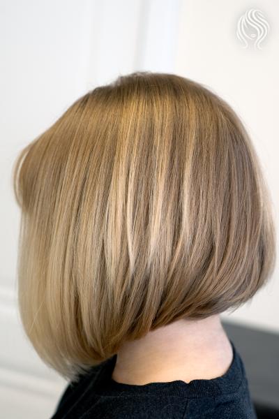 Kare haircut for dense hair