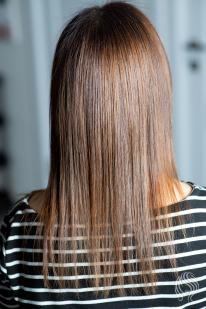 Chololate colour hair